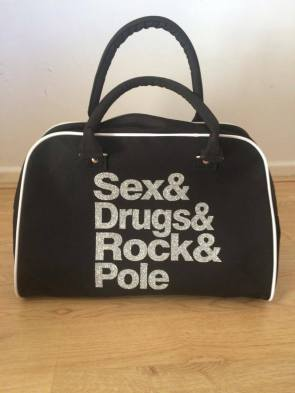ex&Drugs&Rock&Pole holdall in glitter print, £35